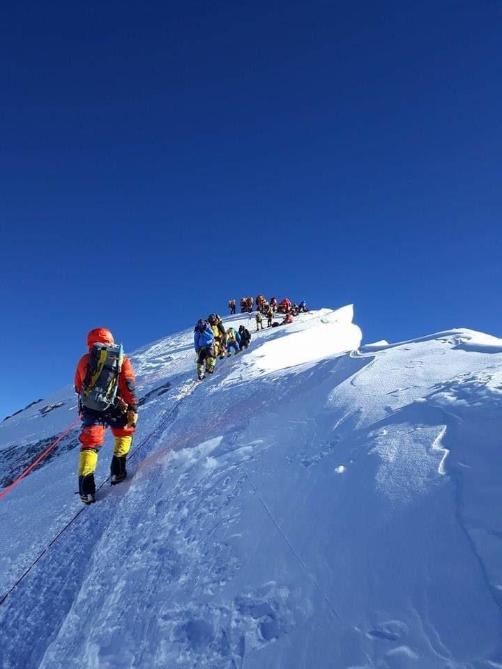 Everest near summit