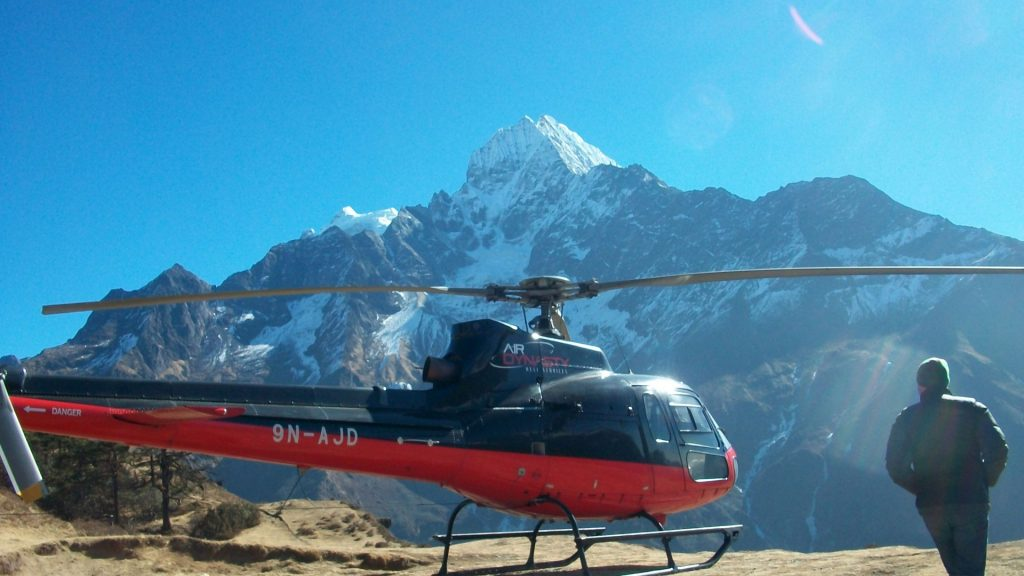 Mount everest helicopter tour 3