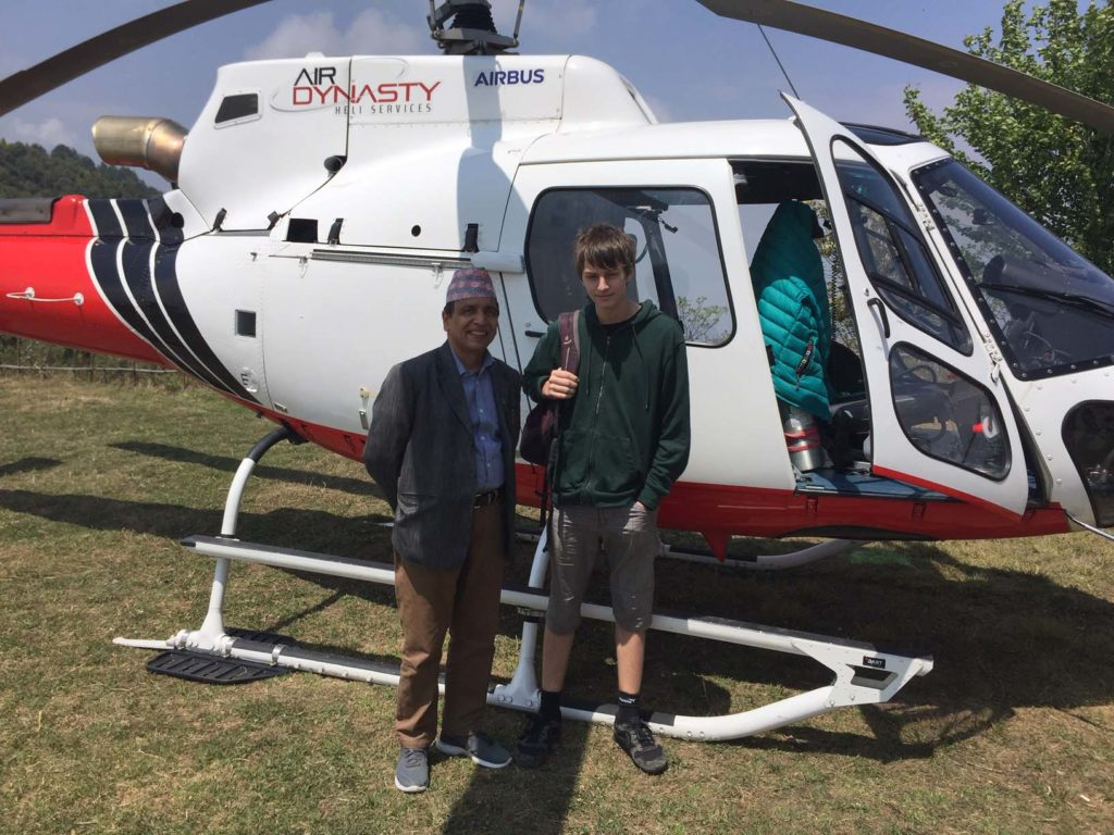 Upper mustang trek in helicopter fly out (24)