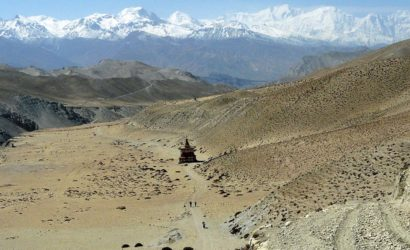 Upper mustang trek in helicopter fly out (9)